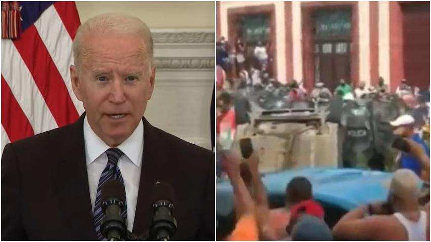 Las redes sociales del presidente Biden hacen silencio sobre la situación en Cuba a 24 horas de las protestas