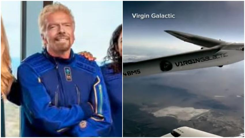 Multimillonario Richard Branson quiere adelantarse a Jeff Bezos para viajar al espacio; tiene previsto viajar el 11 de julio