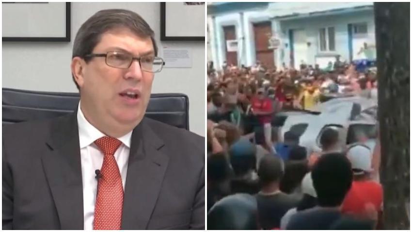 Bruno Rodríguez miente y niega estallido social en Cuba