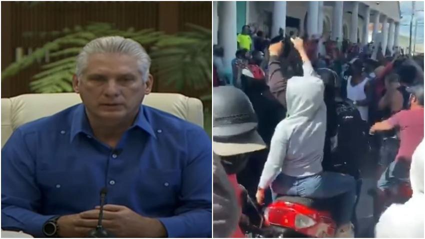Díaz-Canel llama delincuentes a los que se manifestaron contra la dictadura en Cuba
