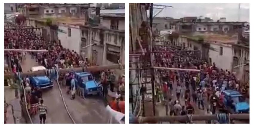 Así la cola en el mercado Cuatro Caminos de La Habana, en una jornada en la que se registraron 18 muertes por Covid-19