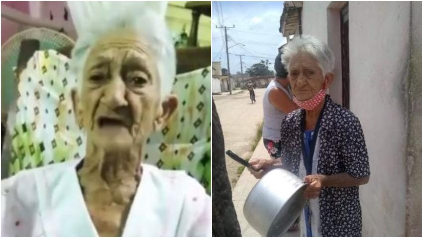 """Anciana cubana explica porque salió a protestar a las calles en Cuba: """"Estoy aburrida de pasar hambre"""""""