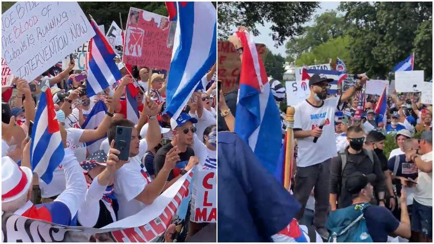 Desde horas tempranas miles de cubanos se reúnen frente a la Casa Blanca para manifestarse por la libertad de Cuba