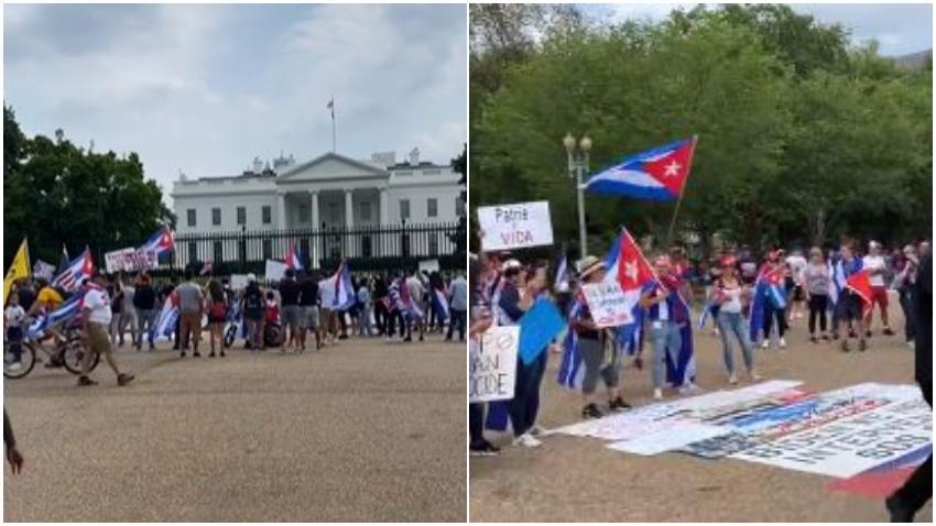 Comienzan a llegar cubanos a Washington DC para masiva manifestación frente a la Casa Blanca