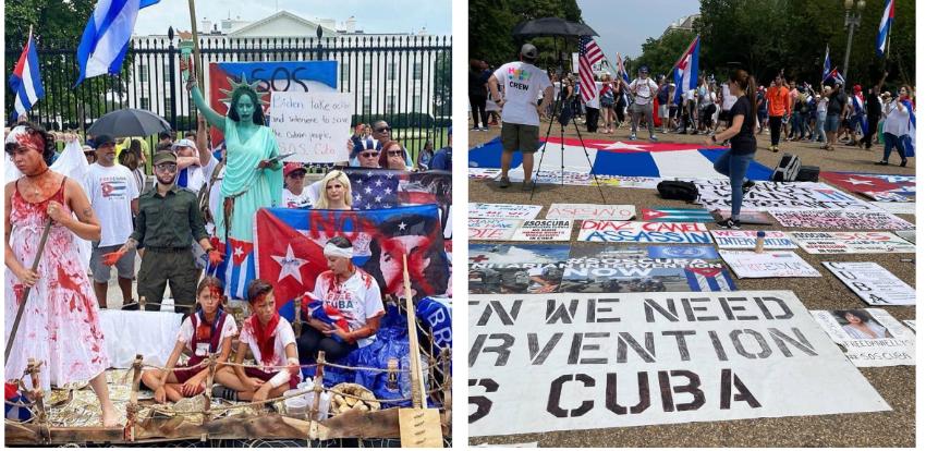 Miles de cubanos ya están en Washington para manifestarse frente a la Casa Blanca