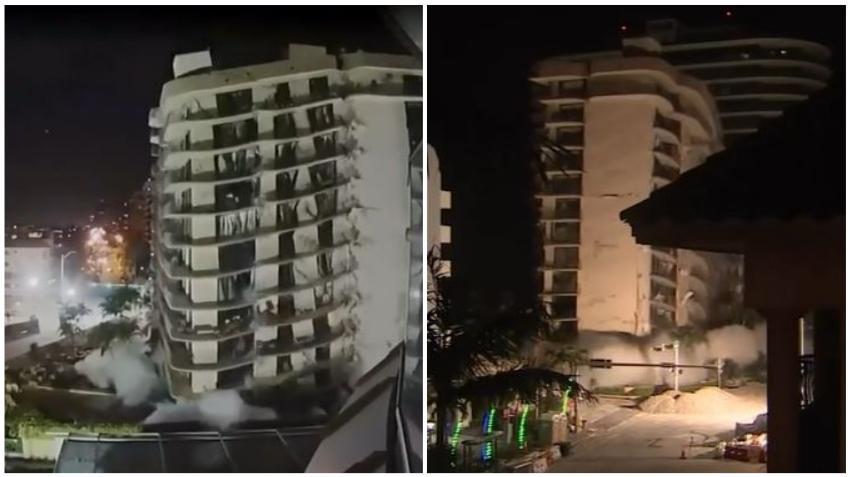 Rescatistas retoman los esfuerzos de rescate tras las demolición del edificio en Surfside