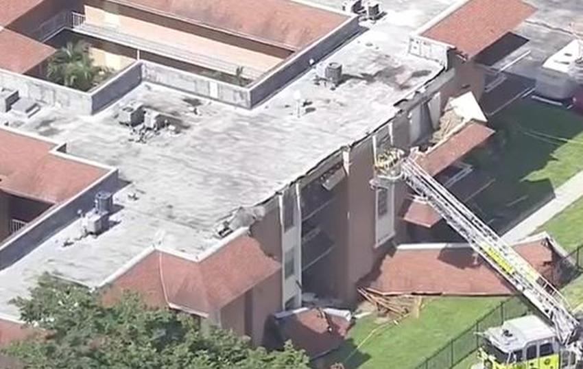 Colapso parcial del techo de un edificio en Miami-Dade provoca evacuación de 36 apartamentos