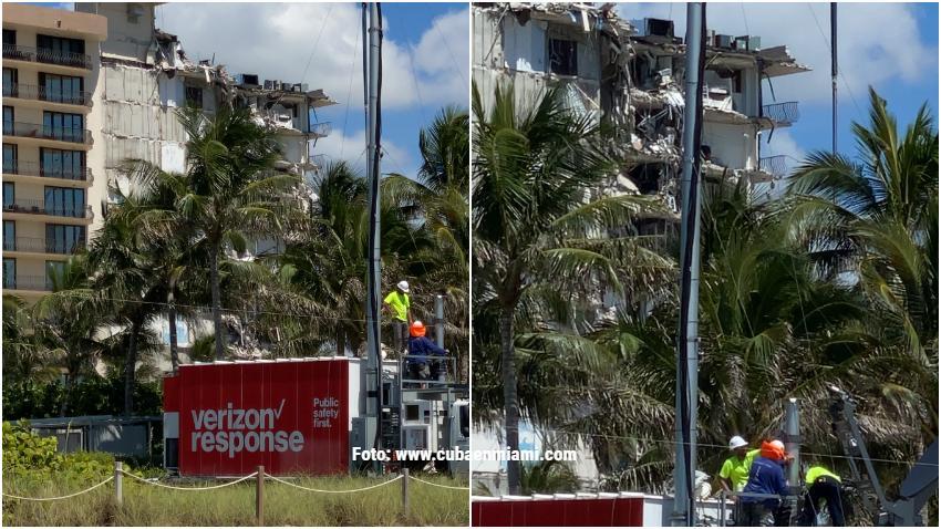 Autoridades adelantan la demolición de edificio que colapsó parcialmente en Surfside