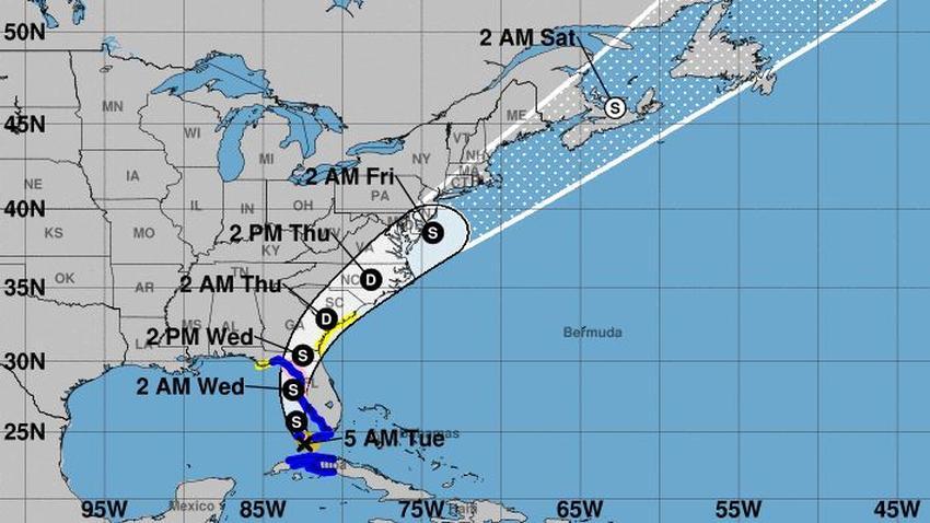 Tormenta Elsa se aproxima a la Florida, emiten alerta de huracán para la costa oeste