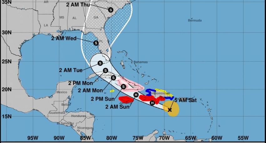 Huracán Elsa avanza hacia el Caribe, afectando a Cuba el domingo y el sur de la Florida el lunes
