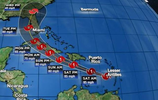 Huracán Elsa avanza hacia Cuba