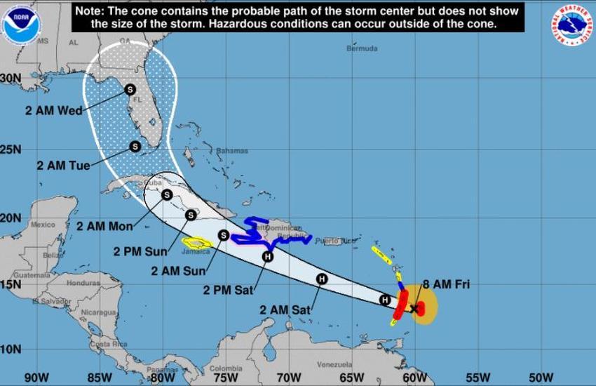 Elsa se convierte en huracán y continúa su peligroso avance hacia Cuba y el sur de Florida