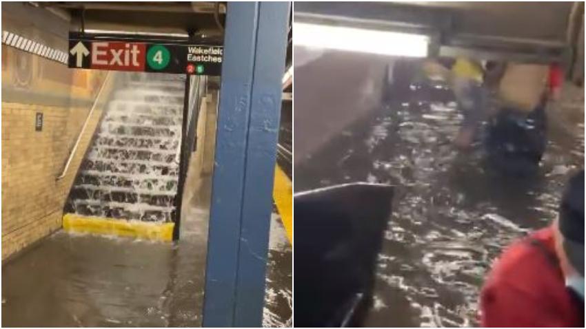 Tormenta Elsa provoca fuertes inundaciones en Nueva York