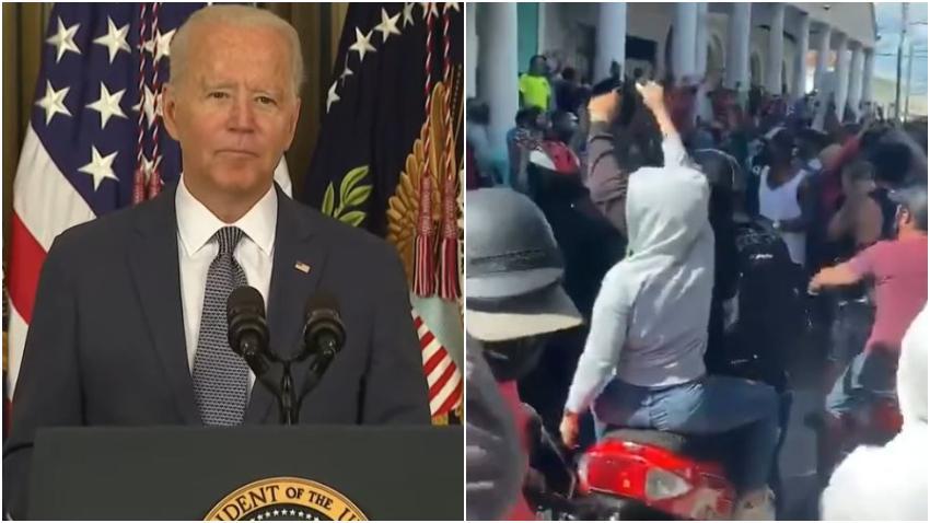 """Comunicado oficial del presidente Biden sobre las protestas en Cuba: """"Apoyamos al pueblo cubano y su clamor por la libertad"""""""