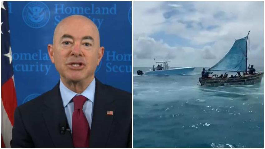 Secretario de Seguridad Nacional, el cubanoamericano Alejandro Mayorkas vuelve a pedir a los cubanos no lanzarse al mar