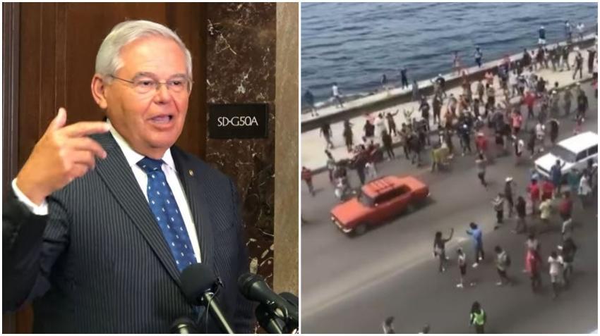 Senador cubanoamericano Bob Menéndez asegura que no habrá intervención militar en Cuba