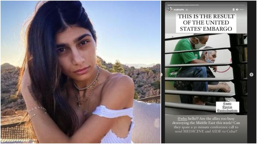 Ex Actriz de películas para adultos Mia K culpa al embargo de Estados Unidos por la situación que se vive en Cuba y también le dedica un mensaje a Díaz-Canel