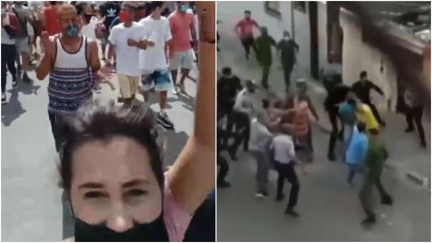 """Joven cubana en las protestas en Cuba: """"Vi cómo el gobierno quería matar al pueblo"""""""