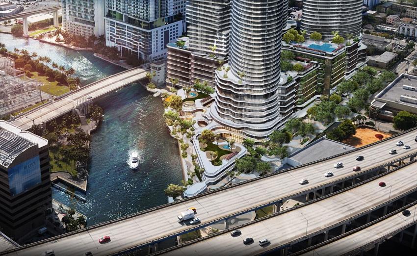 Desarrollador pide los permisos para construir rascacielos de 54 pisos en el Río Miami