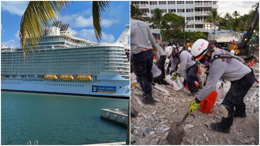 Royal Caribbean proporcionará un crucero para los socorristas que trabajan en el sitio de Surfside