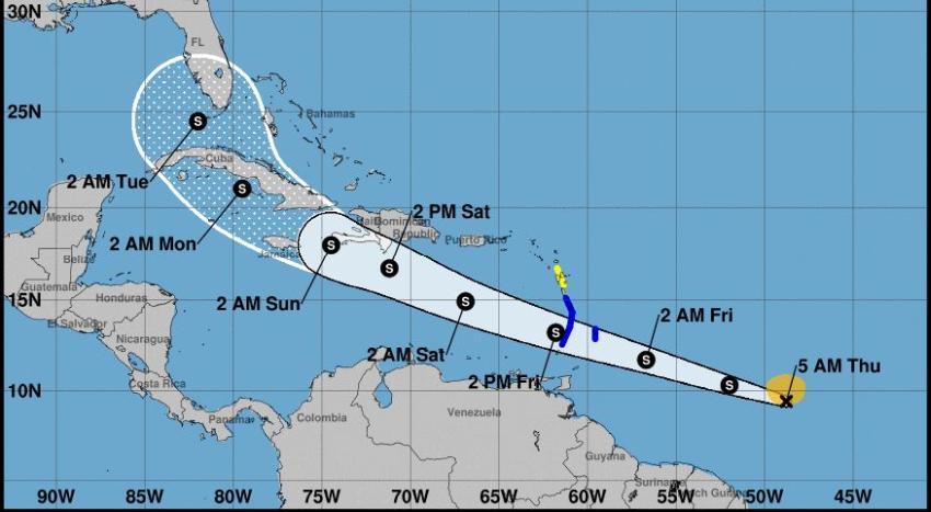Se forma la tormenta tropical Elsa en el Atlántico; Cuba y Florida en su posible trayectoria