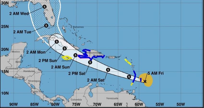 Tormenta Tropical Elsa se fortalece, podría llegar como huracán al sur de la Florida