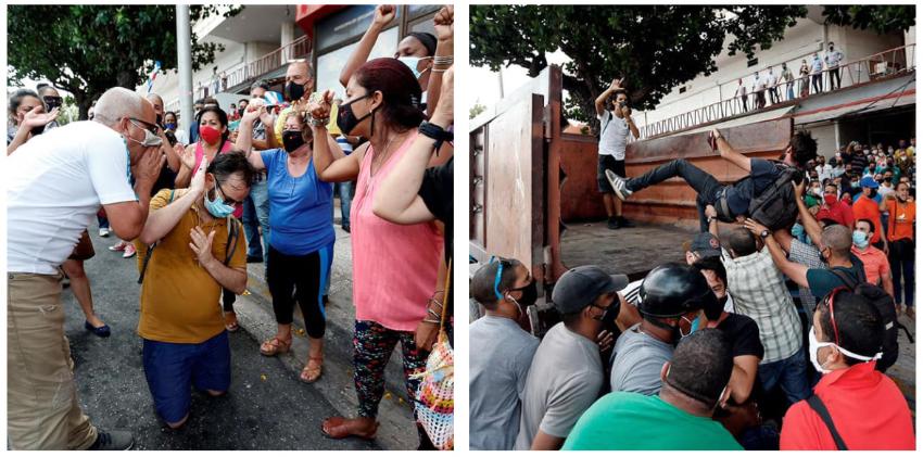Salen a relucir violentas imágenes del arresto a artistas y a activistas cubanos afuera del ICRT