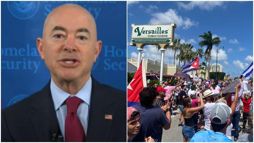 Secretario de Seguridad Nacional Alejandro Mayorkas viajará a Miami para reunirse con cubanos sobre el tema Cuba