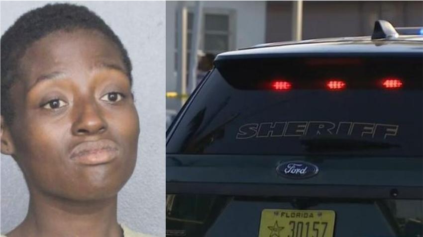Mujer del sur de la Florida arrestada por supuestamente intentar prender fuego a una patrulla con el policía dentro