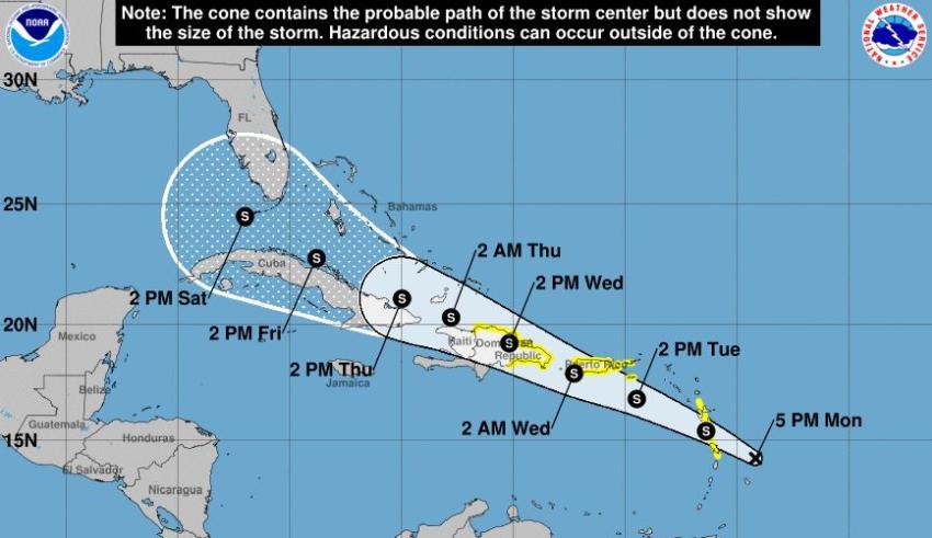 Florida en el cono de pronóstico de posible ciclón tropical que se podría convertir en la tormenta Fred