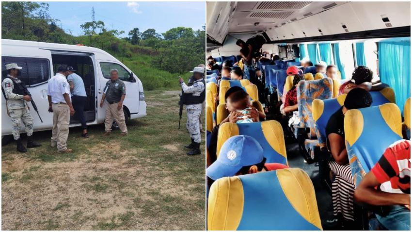 Autoridades en México interceptan a 57 cubanos sin documentos que se trasladaban por carretera