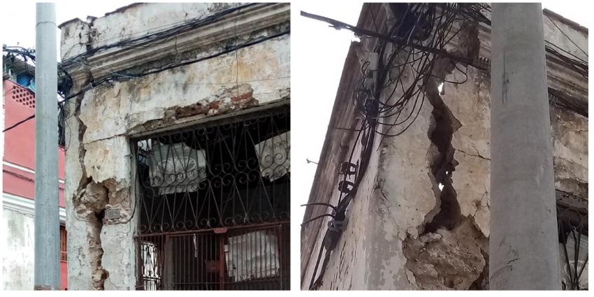 """Advierten inminente derrumbe de un viejo edificio en La Habana Vieja """"puede cobrar vidas en cualquier momento"""""""