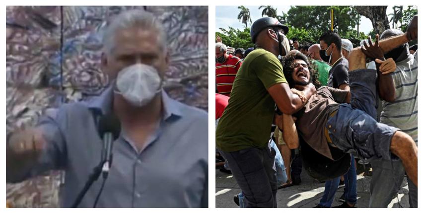 """Díaz-Canel sobre su llamado a la violencia contra el pueblo el 11J: """"No me arrepiento, ni me arrepentiré"""""""