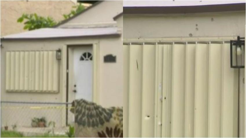 Una mujer de 80 años en Miami termina herida después de que su casa recibiera varios impactos de bala