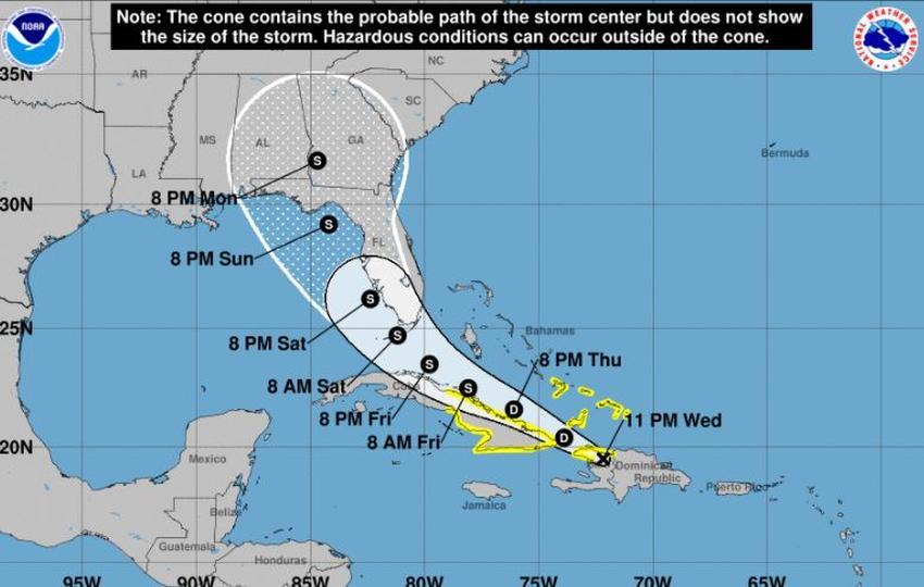 Tormenta Tropical Fred se debilita mientras avanza rumbo a Florida