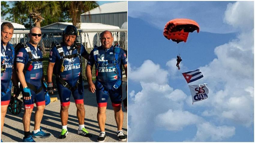 Grupo de paracaidistas cubanos de Miami saltarán sobre el memorial cubano en solidaridad con el 11J