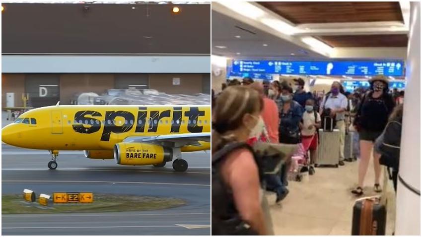 Spirit Airlines sigue cancelando vuelos en toda Florida dejando a pasajeros varados