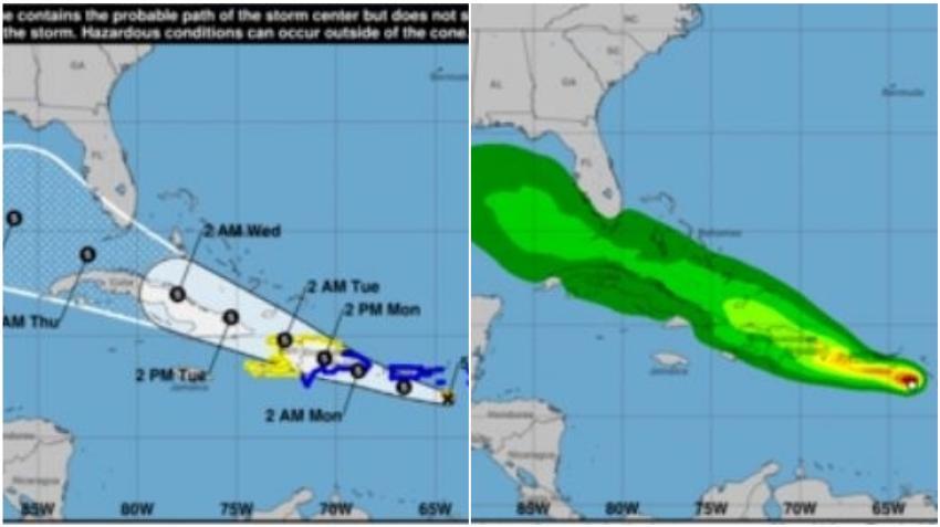 Tormenta Tropical Grace continúa su trayectoria hacia Cuba y el sur de la Florida