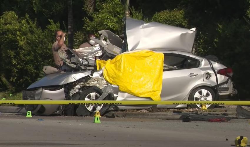 Tres cubanos fueron los fallecidos en un aparatoso accidente en el suroeste de Miami-Dade
