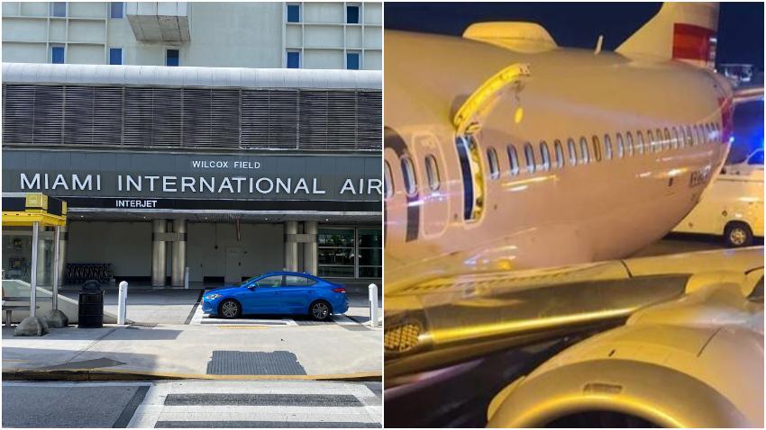 Hombre procedente de Colombia salta al ala de un avión tras aterrizar en el Aeropuerto de Miami