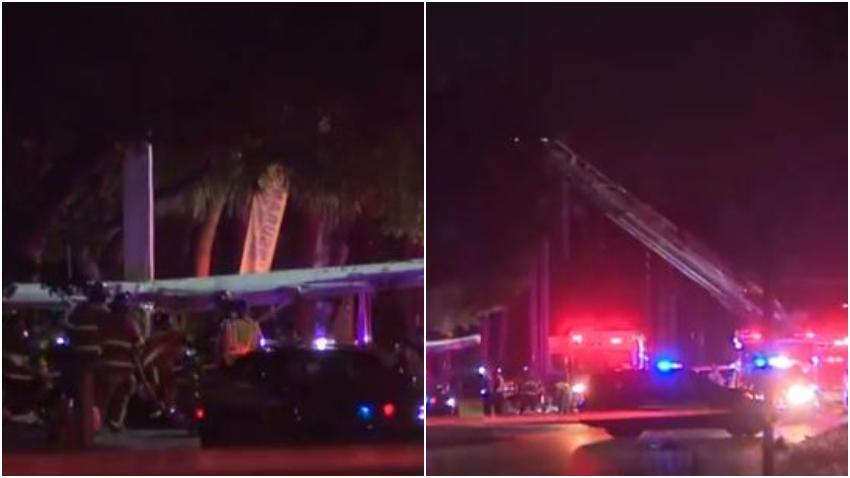 Avión se estrella en una carretera de Miramar en el Sur de la Florida