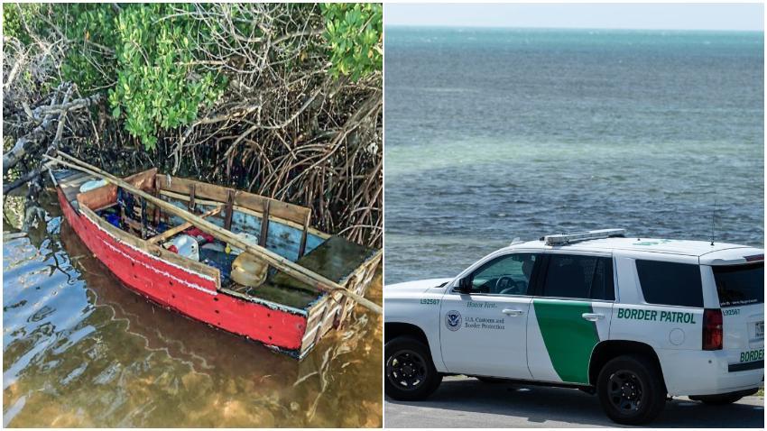 Patrulla Fronteriza detiene a 10 balseros cubanos tras tocar tierra en los Cayos de la Florida