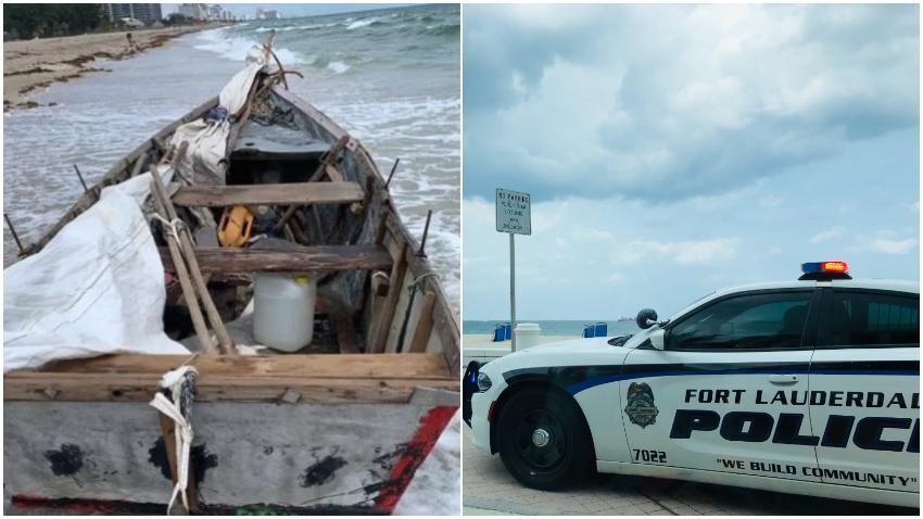 Encuentran bote rústico usado por balseros para llegar al sur de la Florida
