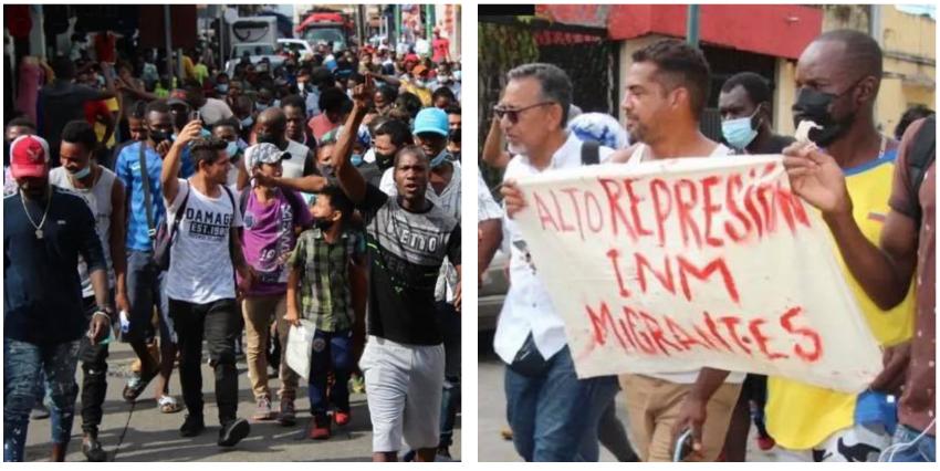 """Cubanos y migrantes de otras nacionalidades protestan en Tapachula, México, considerada """"la cárcel más grande de toda Latinoamérica"""""""