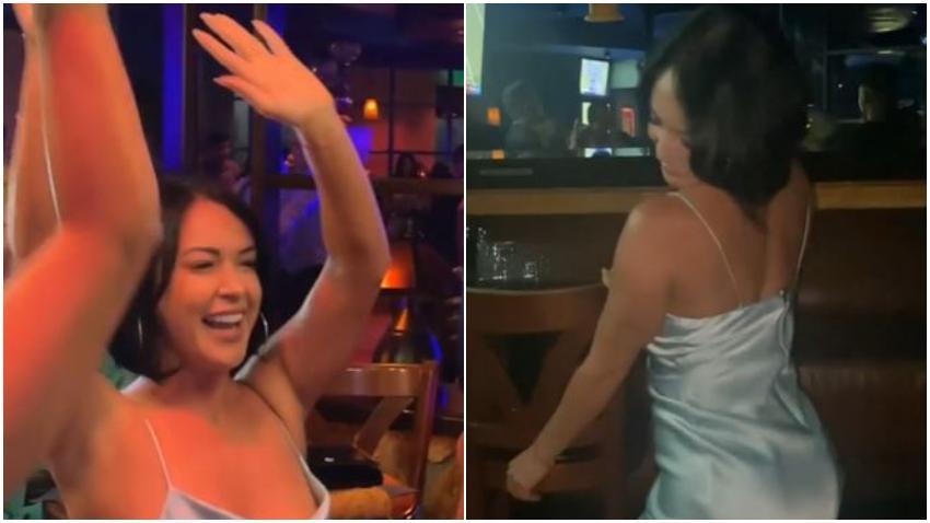 Imaray Ulloa se lo pasa a lo grande en conocido bar de Miami