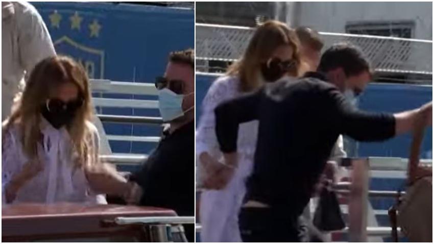 Jennifer López y Ben Affleck muy enamorados durante viaje a Venecia