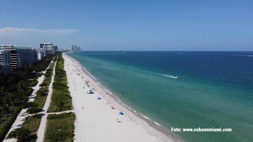 Emiten alerta de no nadar en varias playas de Miami Beach