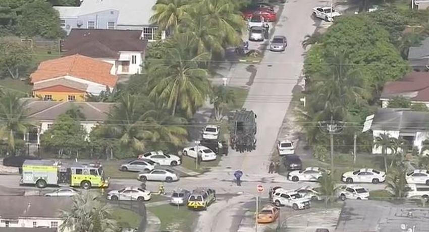 Fuerte presencia policial en barrio de Miami-Dade
