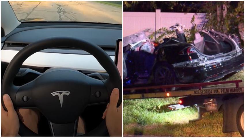 Auto Tesla impacta una casa en Florida matando a dos personas