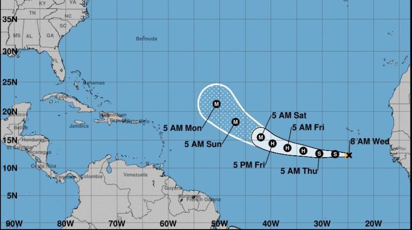 Se forma la Tormenta Tropical Larry en el Atlántico